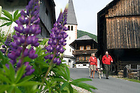Bad Kleinkirchheim, Nockberge National Park, Kaernten, Carinthia, Austria, June 2009.  The old church and the historical center of St Oswald. The ancient Nock mountains of southern Austria offer great hiking possibilities. Photo by Frits Meyst/Adventure4ever.com