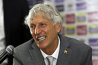 Nestor Pekerman, Técnico / Coach Colombia, Rueda Prensa / Press Conference. 28-08-2015
