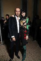 FEB 22 FRANCESCO SCOGNAMIGLIO backstage at Milan Fashion Week