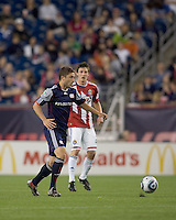 New England Revolution midfielder Chris Tierney (8) at midfield. Chivas USA defeated the New England Revolution, 4-0, at Gillette Stadium on May 5, 2010.