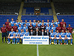St Johnstone FC photocall Season 2016-17 Alan Storrar Cars<br />Back row from left, Ewan Peacock (Chief Scout), Ally Gilchrist, Graham Cummins, Blair Alston, Murray Davidson, Steven Anderson, Brian Easton, Tam Scobbie, Joe Shaughnessy, Brad McKay, Keith Watson, Liam Gordon and George Browning (Academy GK Coach)<br />Middle row, from left, Alistair Stevenson (Academy Manager), Manny Fowler (Kit Manager), Paul Mathers (GK Coach), Craig Thomson, George Hunter, Mark Hurst, Alan Mannus, Zander Clark, David Wotherspoon, Eoghan McCawl, Scott Williams (Physio), Mel Stewart (Asst Physio) and Alex Headrick (Sports Scientist)<br />Front row from left, Liam Craig, Paul Paton, Steven MacLean, Dave Mackay, Callum Davidson (Asst Manager), Alan Storrar (Shirt Sponsor),Tommy Wright (Manager), Alec Cleland (1st Team Coach), Chris Millar, Danny Swanson, Chris Kane and Michael Coulson.<br />Picture by Graeme Hart.<br />Copyright Perthshire Picture Agency<br />Tel: 01738 623350  Mobile: 07990 594431
