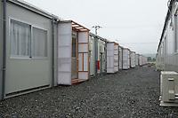 Landscape view of temporary community center buildings following the 311 Tohoku Tsunami in Ishinomaki, Japan  © LAN