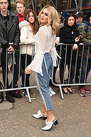 Tallia Storm arrives for the Topshop Unique AW17 show as part of London Fashion Week AW17 at Tate Modern, London, UK. <br /> 19 February  2017<br /> Picture: Steve Vas/Featureflash/SilverHub 0208 004 5359 sales@silverhubmedia.com