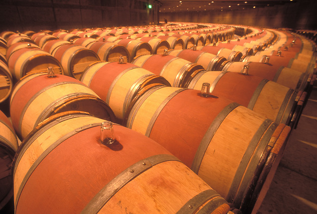 Barrels in Grand Chai at Opus One Winery