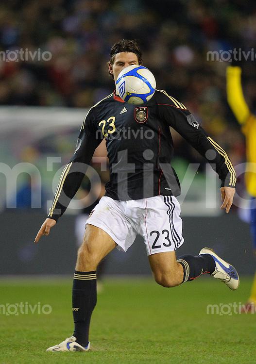 Fussball international Freundschaftsspiel Schweden - Deutschland Mario GOMEZ (GER).
