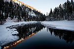 Snow blankets the banks of the Truckee River near Tahoe City Calif., January 6, 2011. California has already received 80% of its normal annual precipitation in the first two months of a rainy season that lasts another four months..CREDIT: Max Whittaker for The Wall Street Journal.CALWATER