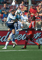 15 August 2009: D.C. United goalkeeper Josh Wicks #31 makes a save during a game at BMO Field in Toronto between D.C. United and Toronto FC..Toronto FC won 2-0.Photo by Nick Turchiaro/isiphotos.com.