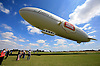 UK ENGLAND LONDON 22JUL08 - The 'Star over London' zeppelin takes off from Damyen Hall airfield near Upminster in east London.<br /> Photography by Jiri Rezac<br /> Tel 0044(0)208 944 6933<br /> www.linkphotographers.com
