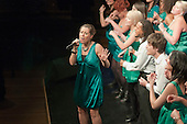 "ACM Gospel Choir performing.  Special Olympics Surrey put on a show,   ""Beyond the Stars"", at the Rose Theatre, Kingston upon Thames to raise money for the  SOGB team.  The Special Olympics are for athletes with learning disabilities."