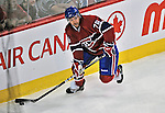 21 September 2009: Montreal Canadiens' right wing forward Eric Neilson in action during a pre-season game against the Pittsburgh Penguins at the Bell Centre in Montreal, Quebec, Canada. The Canadiens edged out the defending Stanley Cup Champions 4-3. Mandatory Credit: Ed Wolfstein Photo