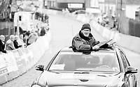 per-race pilot car with 'flag-man'<br /> <br /> 72nd Nokere Koerse 2017 (1.HC)