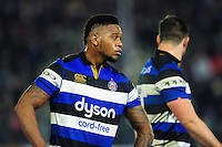 Levi Douglas of Bath Rugby looks on during a break in play. Anglo-Welsh Cup match, between Bath Rugby and Leicester Tigers on November 4, 2016 at the Recreation Ground in Bath, England. Photo by: Patrick Khachfe / Onside Images