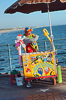 Santa Monica CA Pier, Balloon Artist, Pacific Park, California, North America Santa Monica Pier,  Pacific Park Amusements, Over Water