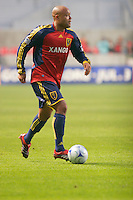 Real Salt Lake Defender Robbie Russell (3) in the Real Salt Lake 6-0 win over New England Revolution, April 25, 2009 at Rio Tinto Stadium in Sandy, Utah.