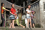 Asia, China, Chongqing. Young Chinese girls in Chongqing, China.