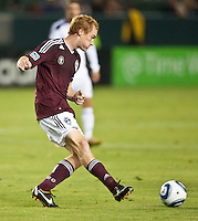 CARSON, CA – September 9, 2011: Colorado midfielder Jeff Larentowicz (4) during the match between LA Galaxy and Colorado Rapids at the Home Depot Center in Carson, California. Final score LA Galaxy 1, Colorado Rapids 0.