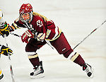 16 October 2010: Boston College Eagles' forward and co-Captain Kelli Stack, a Senior from Brooklyn Heights, Ohio, in action against the University of Vermont Catamounts at Gutterson Fieldhouse in Burlington, Vermont. The Eagles defeated the Lady Cats 4-1 in the second game of their weekend series. Mandatory Credit: Ed Wolfstein Photo