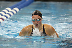 19 February 2016: Notre Dame's Ellen Berdusco competes in the 400 Individual Medley preliminary heat 2. The 2016 Atlantic Coast Conference Swimming and Diving Championships were held at the Greensboro Aquatic Center in Greensboro, North Carolina from February 17-27, 2016.