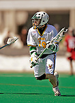 23 March 2008: University of Vermont Catamounts' Clayton Phillips-Dorsett, a Senior from Manchester, VT, in action against the Bellarmine University Knights at Moulton Winder Field, in Burlington, Vermont. The Catamounts defeated the visiting Knights 9-7 at the Vermont home opener...Mandatory Photo Credit: Ed Wolfstein Photo