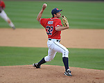 Ole Miss' Dylan Chavez (32) pitches vs. Houston at Oxford-University Stadium in Oxford, Miss. on Sunday, March 11, 2012. Ole Miss won 11-3 to sweep the three-game series.