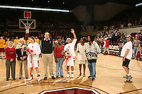 25 February 2007: Markisha Coleman with her family at Senior Day during Stanford's 56-53 win over USC at Maples Pavilion in Stanford, CA.