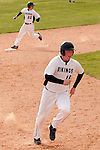 Vale's Brady Sharp runs to third as Josh Morcom advances to second base against New Plymouth on April 28, 2011 at Cammann Field.