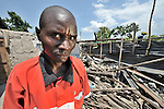Mayele Muguguri's house in the eastern Congo village of Rubari was destroyed by bombing on October 28, during fighting between government forces and rebels.