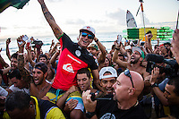 Snapper Rocks, Coolangatta, Queensland Australia. (Tuesday March 11, 2014) Gabriel Medina (BRA) –  The swell  was in the 3'-6' range all day and the Quiksilver Pro was completed right on dark with Gabriel Medina (BRA) defeating local favourite Joel Parkinson (AUS) in the 35 minute final. Photo: joliphotos.com