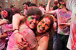 4/10/2011 -- Medford, MA -- Julia Kosowsky (Tufts '14) and Annie Brown (Tufts '14) had their first ever Holi experience this year. (Kaveh Veyssi, A14, for Tufts University)