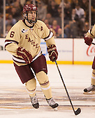Patrick Wey (BC - 6) - The Boston College Eagles defeated the Northeastern University Huskies 6-3 for their fourth consecutive Beanpot championship on Monday, February 11, 2013, at TD Garden in Boston, Massachusetts.