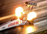 Jul 23, 2016; Morrison, CO, USA; NHRA top fuel driver Richie Crampton during qualifying for the Mile High Nationals at Bandimere Speedway. Mandatory Credit: Mark J. Rebilas-USA TODAY Sports