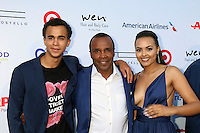 PACIFIC PALISADES, CA - JULY16: Daniel Leonard, Sugar Ray Leonard, Camille Leonard at the 18th Annual DesignCare Gala on July 16, 2016 in Pacific Palisades, California. Credit: David Edwards/MediaPunch