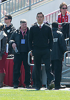 April 27, 2013: New York Red Bulls head coach Mike Petke during a game between Toronto FC and the New York Red Bulls at BMO Field  in Toronto, Ontario Canada..The New York Red Bulls won 2-1.