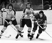 Seals Pete LaFramboise and Joey Johnson with Don Awrey of St.Louis. (photo/Ron Riesterer)
