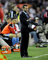 DC United head coach Ben Olsen.     The New York Red Bulls defeated DC United 4-0, at RFK Stadium, Saturday April 21, 2011.