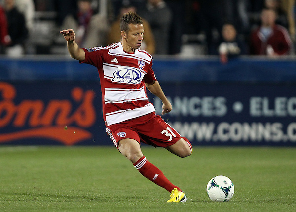 Frisco, TX - MARCH 2: Michel #31 of FC Dallas in action against the Colorado Rapids at FC Dallas Stadium on March 2, 2013 in Frisco, Texas. (Photo by Rick Yeatts)