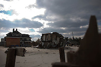 New Jersey, United States. 25th Feb, 2013--Houses destroyed almost 4 months ago by Sandy Storm is seen at Jersey Shore in New Jersey. Photo by Eduardo Munoz Alvarez / VIEWpress.