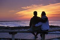 California, Pacific Grove, Asilomar State Beach, sunset