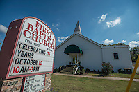 NWA Democrat-Gazette/ANTHONY REYES &bull; @NWATONYR<br /> The First Baptist Church Wednesday, Oct. 7, 2015 at 322 S. Main St. in Cave Springs.