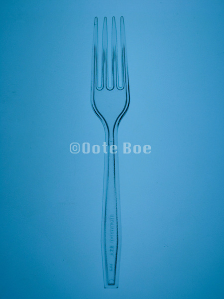 transparent plastic fork