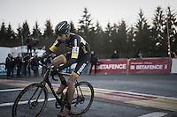 Thijs Van Amerongen (NED/Telenet-Fidea) turning into teh last lap<br /> <br /> 2016 CX Superprestige Spa-Francorchamps (BEL)