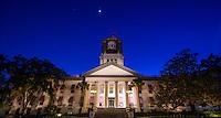 TALLAHASSEE, FLA. 4/11/16-The Historic Florida Capitol at dusk. <br /> <br /> COLIN HACKLEY PHOTO