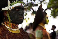 Male performer, Morobe Singsing dance festival, Papua New Guinea