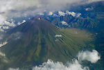 Aerial view of Mount Inerie, Flores