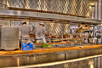 Johnny Rockets, Classic 1950's diner, Restaurant, Kodak, Shopping, Center, Hollywood, Highland,  Hollywood, Boulevard, CA High dynamic range imaging (HDRI or HDR)