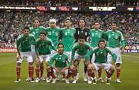 Mexico starting eleven, .during an international friendly between the national teams of Mexico and the United States at Reliant Stadium in Houston, TX, USA, on February 6, 2008. USA tied Mexico 2-2.