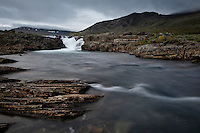 Flowing mountain river, Kungsleden Trail, Lapland, Sweden
