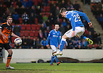 St Johnstone v Dundee United...27.12.14   SPFL<br /> Michael O'Halloran heads the ball in to make it 1-1<br /> Picture by Graeme Hart.<br /> Copyright Perthshire Picture Agency<br /> Tel: 01738 623350  Mobile: 07990 594431