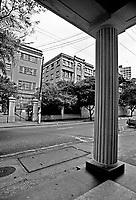 Faculdade de Filosofia da USP e Mackenzie na Rua Maria Antonia em São Paulo. 1997. Foto de Juca Martins.
