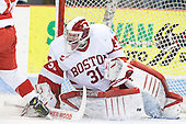 Sean Maguire (BU - 31) - The visiting Northeastern University Huskies defeated the Boston University Terriers 6-5 on Friday, January 18, 2013, at Agganis Arena in Boston, Massachusetts.